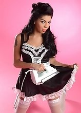 Natalie Foxx is a hot tranny maid that will fulfill your every nasty desire
